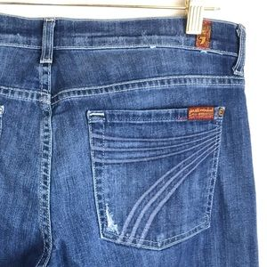 7 For All Mankind Dojo Flare Stretch Jeans size 32